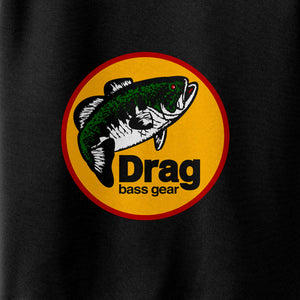 Drag Men's Logo Black Poly Tech Shirt
