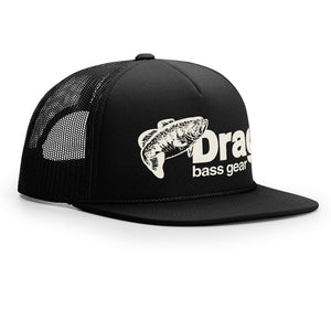 Drag Large Mouth Black Old School Foam Front Trucker Hat