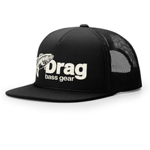 Load image into Gallery viewer, Drag Large Mouth Black Old School Foam Front Trucker Hat