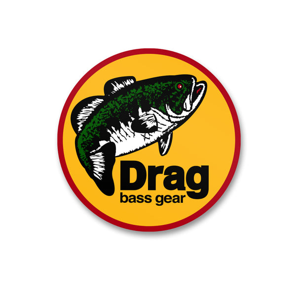 Drag Bass Gear Logo Sticker - 5
