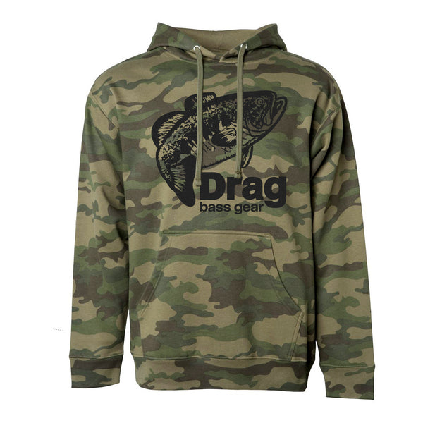 Drag Men's Large Mouth Camo 8.5oz Hoodie