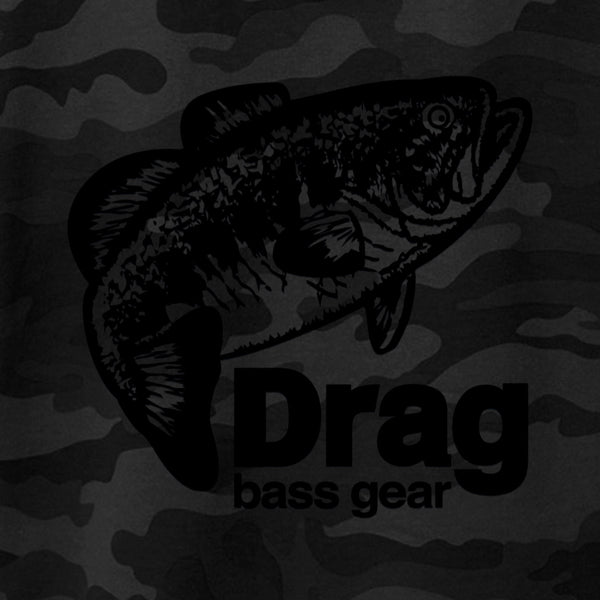 Drag Men's Large Mouth Black Camo 8.5oz Hoodie