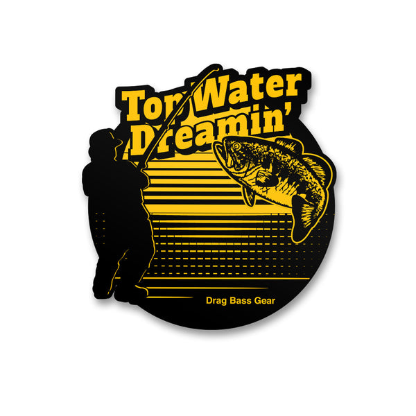 Drag Bass Gear Top Water Dreamin' Sticker - 5