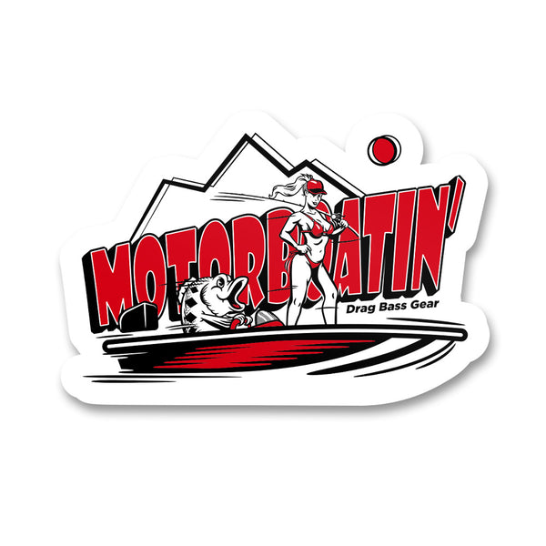 Drag Bass Gear Motorboatin' Sticker - 5