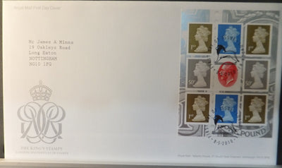 Great Britain Booklet Pane Royal Mail 2011 FDC - The King's Stamp London N1 postmark