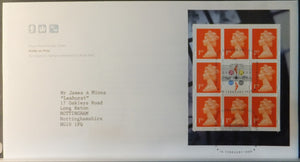 Great Britain Booklet Pane Royal Mail 1999 FDC - Her Majesty's Stamps London SW1 postmark