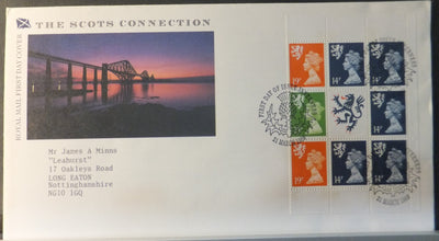 Great Britain Booklet Pane Royal Mail 1989 The Scots Connection Inverness postmark