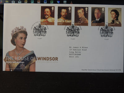Great Britain Royal Mail 2012 FDC - House of Windsor Windsor postmark