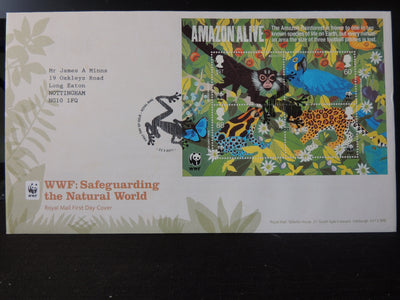 Great Britain Royal Mail 2011 FDC - Miniature Sheet WWF Tallents postmark