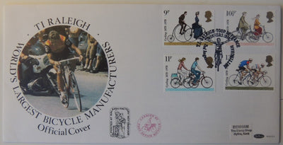 Great Britain 1978 QEII FDC Cycling illustrated Benham cover