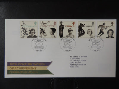 Great Britain 1996 FDC - Europa Famous Women Fowey postmark