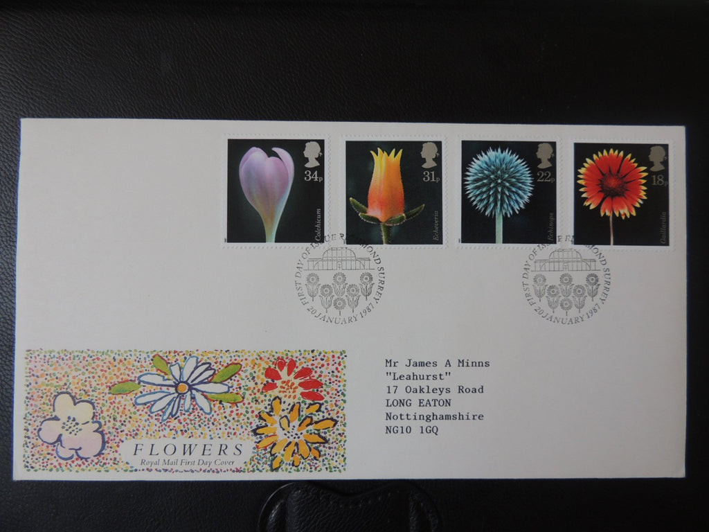 Great Britain 1987 FDC - Flowers Richmond postmark