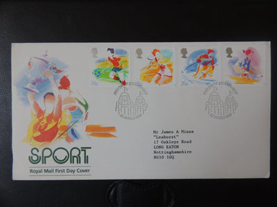 Great Britain 1988 FDC - Sports organisations Wembley postmark