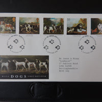 Great Britain 1991 FDC - Dogs paintings Birmingham postmark