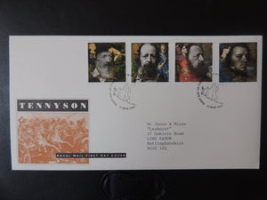 Great Britain 1992 FDC - Death centenary Tennyson Isle of Wight postmark