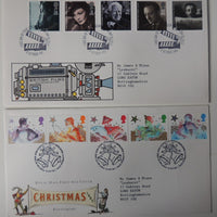 Great Britain 1985 x2 FDC - Film Year, Christmas
