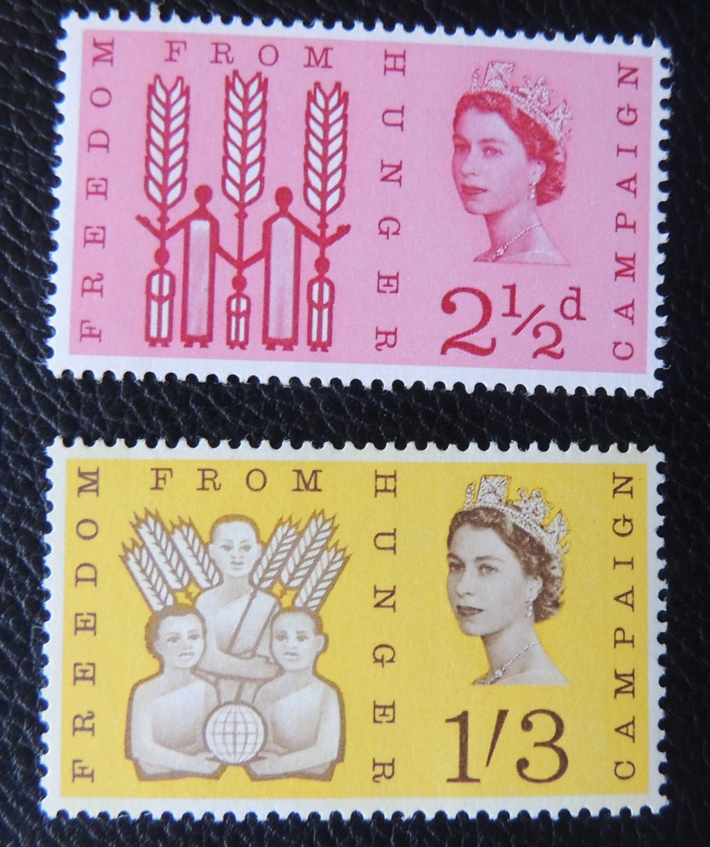 Great Britain QEII 1963 National Freedom from Hunger MNH Set of 2 (Phosphor) SG 634/5p
