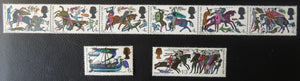 Great Britain QEII 1966 Battle of Hastings MNH Set of 8 (Phosphor) SG 705p-712p