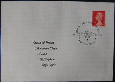 Gb Postmark British Engineering Harrier Jet High Wycombe 02May19
