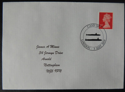 Gb Postmark Casd 50 Submarines London 03May19