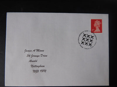 Gb Postmark Raf Acrobatics Team Red Arrows Torquay Devon