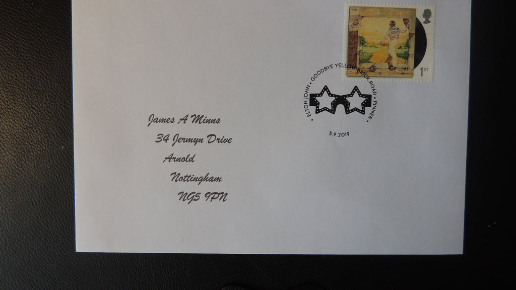 Gb Postmark Elton John Goodbye Yellow Brick Road Pinner