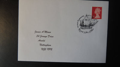 Gb Postmark Royal Navy Ships Portsmouth