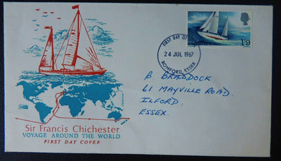 Great Britain 1967 QEII FDC Chichester good used
