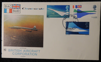 Great Britain 1969 Wessex FDC - Concorde