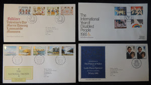 Great Britain 1981 x4 FDC - folklore disabled national trust royal wedding