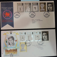 Great Britain 1969 x2 FDC - Prince of Wales investiture #1