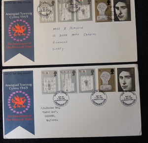 Great Britain 1969 x2 FDC - Prince of Wales investiture #2