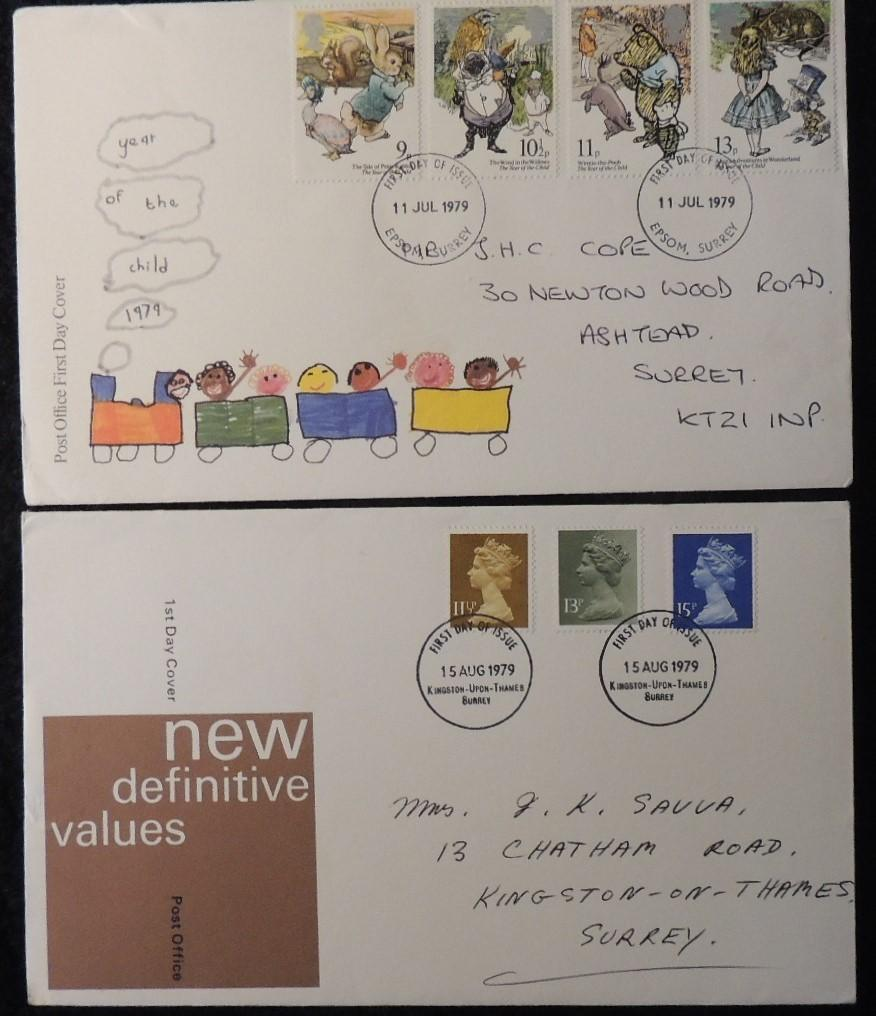 Great Britain 1979 - x2 FDC year of the child definitives