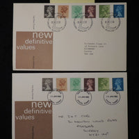 Great Britain 1980 - x2 FDC definitives 2 different postmarks