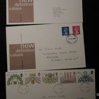 Great Britain 1980/81 - x3 FDC christmas definitives
