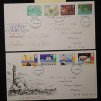 Great Britain 1985 - x2 FDC safety at sea british composers