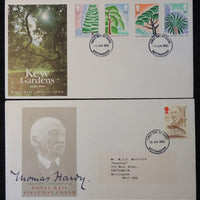Great Britain 1990 - x2 FDC kew gardens thomas hardy