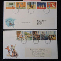Great Britain 1996/97 - x2 FDC enid bylton famous five christmas