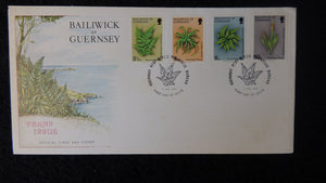 Guernsey 1975 FDC ferns trees