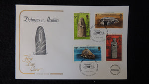 Guernsey 1977 FDC prehistoric monuments cotswald cover