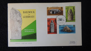 Guernsey 1977 FDC prehistoric monuments