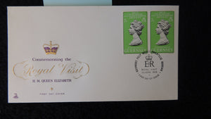 Guernsey 1978 FDC royal visit royalty mercury cover