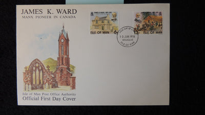 Isle of Man IOM FDC 1978 james ward canada church religion