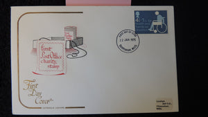 Great Britain FDC Cotswold 1975 charity  health handicap disabled