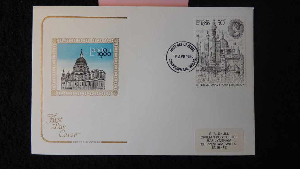 Great Britain FDC Cotswold 1980 london stamp exhibition st paul's cathedral