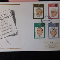 Great Britain FDC Cotswold 1980 british conductors music henry woods thomas beecham malcolm seargent john barbirolli