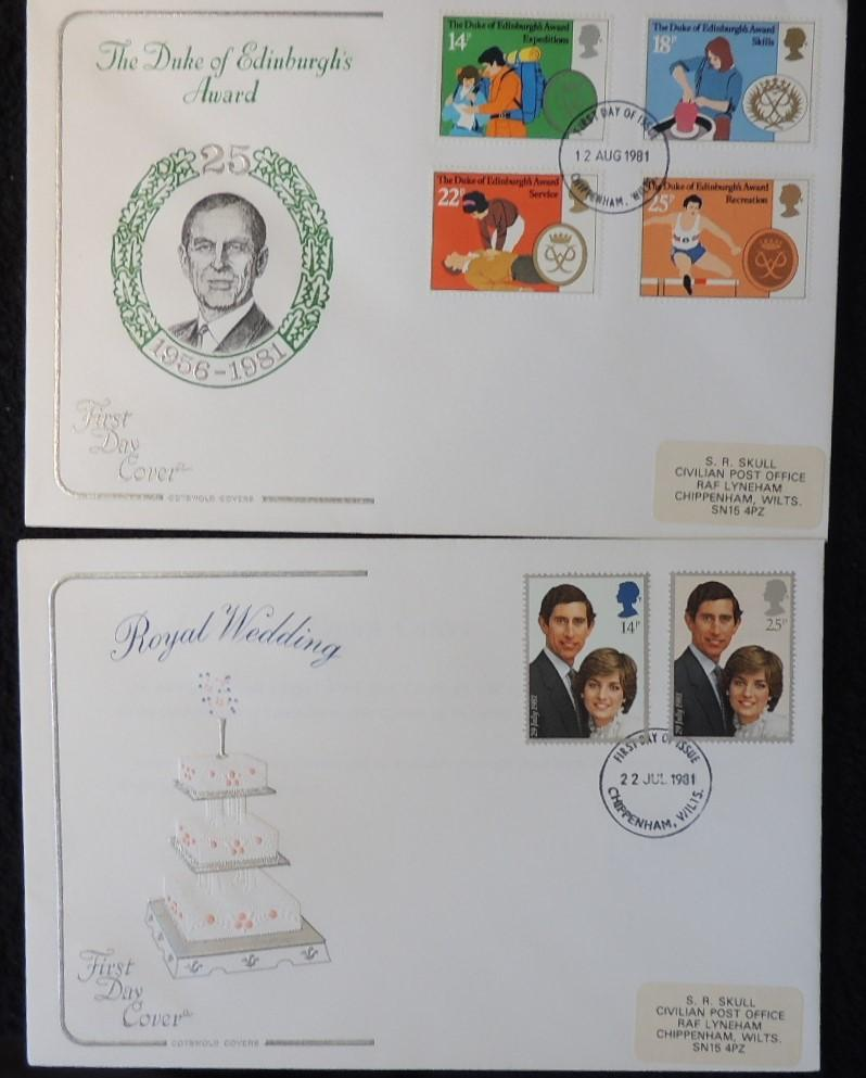 Great Britain FDC Cotswold 1981 royal wedding charles diana duke of edinburgh awards