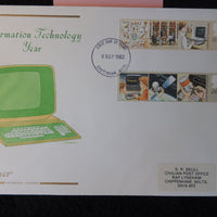 Great Britain FDC Cotswold 1982 information technology vdu scanner
