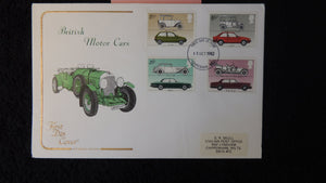 Great Britain FDC Cotswold 1982 british cars austin ford jaguar rolls-royce