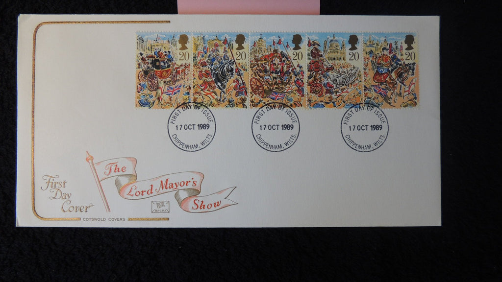 Great Britain FDC Cotswold 1989 the lord mayors show dick whittington